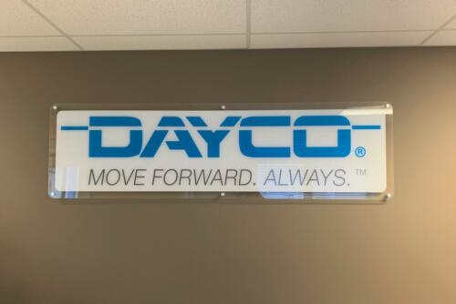Acrylic Sign with White Ink